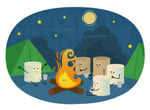 Marshmallows Camping Royalty Free Stock Photo