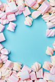 Marshmallows Candies On Background Stock Images