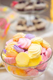 Marshmallows in candy bar. Colorful marshmallows in candy bar during a party Stock Image