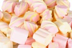 Marshmallows close-up Stock Photos