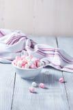 Marshmallows cor-de-rosa e brancos Fotos de Stock
