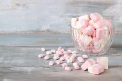 Marshmallows cor-de-rosa e brancos Fotografia de Stock