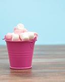 Marshmallows cor-de-rosa e brancos Foto de Stock