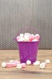 Marshmallows cor-de-rosa e brancos Imagem de Stock