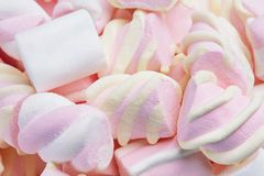 Marshmallows cukierki Na tle Obraz Royalty Free