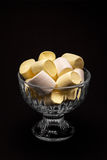 Marshmallows in the dark Royalty Free Stock Image