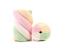 Marshmallows of different colors. Stock Photo