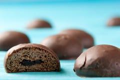 Marshmallows do chocolate Fotografia de Stock