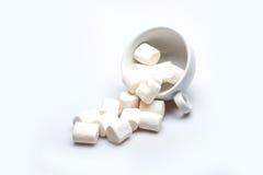 Marshmallows e café? acima de Fotos de Stock