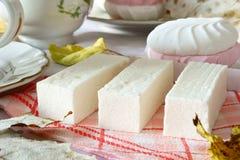 Marshmallows, Eastern dessert. Dessert with tea Royalty Free Stock Photo