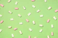Marshmallows flat lay Stock Photos