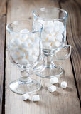 Marshmallows in glass jars Royalty Free Stock Images