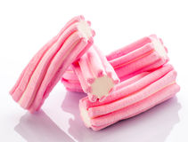 Marshmallows group striated soft pink Royalty Free Stock Photos