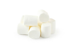 Marshmallows isolated on a white Stock Images