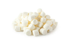 Marshmallows isolated on a white Stock Photos