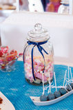 Marshmallows in a jar. And cake pops Stock Photo