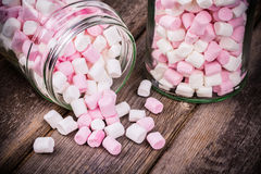 Marshmallows in a jar Royalty Free Stock Photo