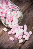 Marshmallows in a jar Royalty Free Stock Photos