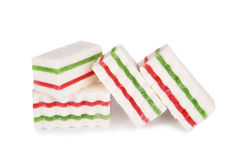 Marshmallows jelly  on a white background Royalty Free Stock Images