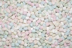 Marshmallows macios textura e teste padrão imagem de stock