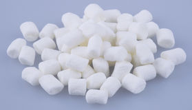 Marshmallows or mini marshmallows on background. Stock Images