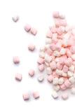 Marshmallows na białym tle od above zdjęcie royalty free