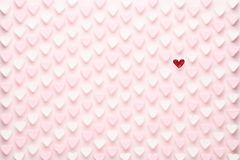 Marshmallows on pink background with copyspace. Flat lay or top view. Background or texture of colorful mini marshmallows.  royalty free stock photos