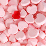 Marshmallows and Red Heart Stock Photography