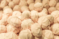 Marshmallows in a shop window. Pink marshmallows in a shop window Royalty Free Stock Images