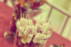 Marshmallows on stick Royalty Free Stock Images