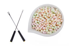 Marshmallows with a stick Royalty Free Stock Photography