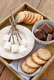 Marshmallows to be toasted Stock Image