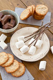 Marshmallows to be toasted Royalty Free Stock Images
