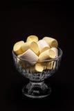 Marshmallows w zmroku Obraz Royalty Free
