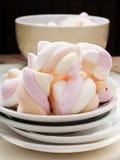 Marshmallows on white background Stock Image