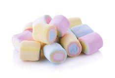 Marshmallows on white background Royalty Free Stock Image