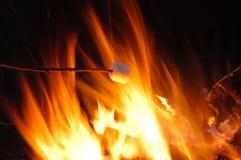 Marshmellow en fuego Imágenes de archivo libres de regalías
