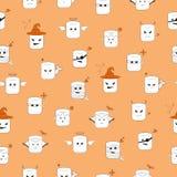 Marshmellow pattern royalty free illustration