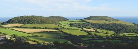 Marshwood Vale. Beautiful farmland landscape in Marshwood Vale near Morcombelake in Dorset, England Stock Images