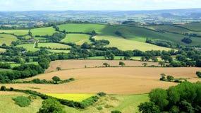 Marshwood Vale. Beautiful farmland landscape in Marshwood Vale near Morcombelake in Dorset, England Royalty Free Stock Photos