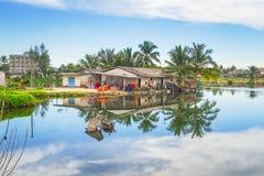 Marshy пейзаж села в челке Muang Стоковая Фотография RF