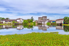 Marshy wioski sceneria w uderzeniu Muang Zdjęcia Stock