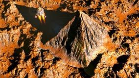 Marsian pyramid Arkivfoto