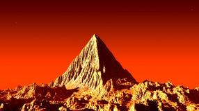 Marsian pyramid Arkivbild