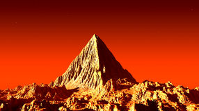 Marsian pyramid Stock Photography