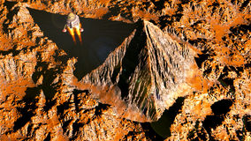 Marsian-Pyramide Stockfoto