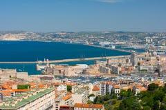 Marsiglia ad un giorno di estate Fotografie Stock Libere da Diritti