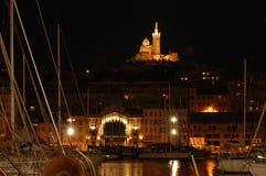 Marsiglia alla notte Immagini Stock