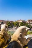 Marsiglia, Francia Le sculture sulla facciata del palazzo di Longchamp Immagini Stock Libere da Diritti
