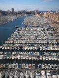Marsiglia gammal port royaltyfri fotografi